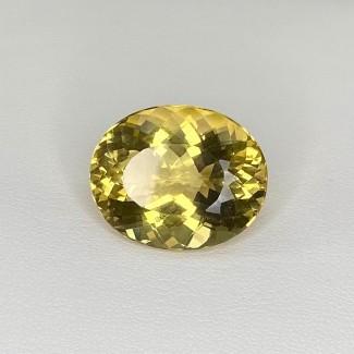 16.60 Cts. Yellow Beryl 19x16mm Regular Cut Oval Shape Loose Gemstone - SKU:158228
