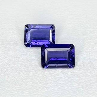 2.20 Cts. Iolite 8x5.5mm Step Cut Octagon Shape Loose Gemstone - Total 2 Pcs. - SKU:158405