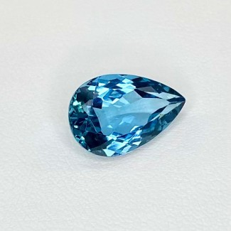 5.20 Cts. London-Blue Topaz 13.5x9mm Regular Cut Pear Shape Loose Gemstone - SKU:158201