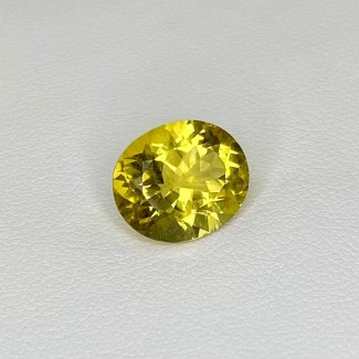 3.75 Cts. Yellow Beryl 12x10mm Regular Cut Oval Shape Loose Gemstone - SKU:158307