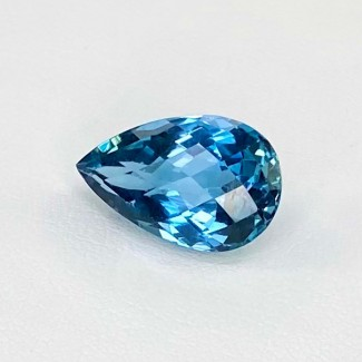 6.06 Cts. London-Blue Topaz 14x9mm Regular Cut Pear Shape Loose Gemstone - SKU:158182