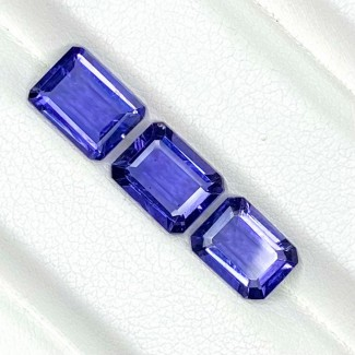 3.64 Cts. Iolite 8x6mm Step Cut Octagon Shape Loose Gemstone - Total 3 Pcs. - SKU:158407