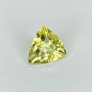 3.90 Cts. Green Beryl 11mm Regular Cut Trillion Shape Loose Gemstone - SKU:158284