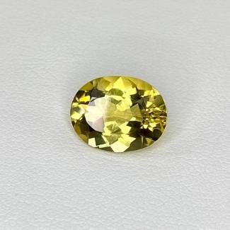 4.24 Cts. Yellow Beryl 12x10mm Regular Cut Oval Shape Loose Gemstone - SKU:158308
