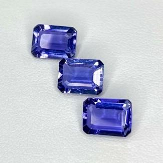 3.78 Cts. Iolite 8x6mm Step Cut Octagon Shape Loose Gemstone - Total 3 Pcs. - SKU:158411