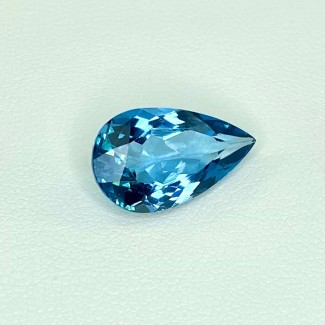6.40 Cts. London-Blue Topaz 16x9.5mm Regular Cut Pear Shape Loose Gemstone - SKU:158202