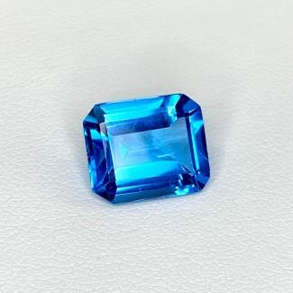 5.98 Cts. Swiss-Blue Topaz 12x10mm Step Cut Octagon Shape Loose Gemstone - SKU:158365