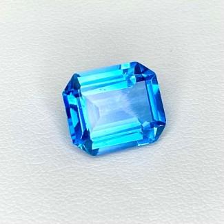 6.14 Cts. Swiss-Blue Topaz 11.5x10mm Step Cut Octagon Shape Loose Gemstone - Total 1 Pcs. - SKU:158366