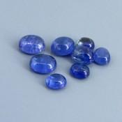 20.93 Cts. Tanzanite 7x6.5-10x8.5mm Oval Shape Cabochon Parcel (8 Pcs.)