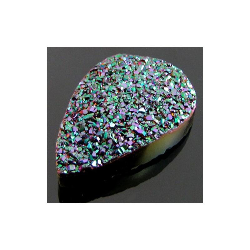 55.25 Ct. Peacock Purple Color 37x23mm Pear Shape Drusy Quartz
