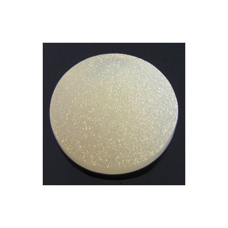 29.5 Ct. Tangy Lemon Color 25mm Round Shape Drusy Quartz