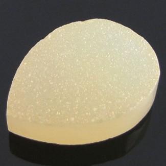 14 Ct. Tangy Lemon Color 20x15mm Pear Shape Drusy Quartz