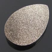 37.5 Ct. Moon Silver Color 36x22mm Pear Shape Drusy Quartz