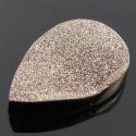48.4 Ct. Moon Silver Color 35x24mm Pear Shape Drusy Quartz