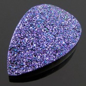 43.3 Ct. Violet Blush Color 33x22mm Pear Shape Drusy Quartz