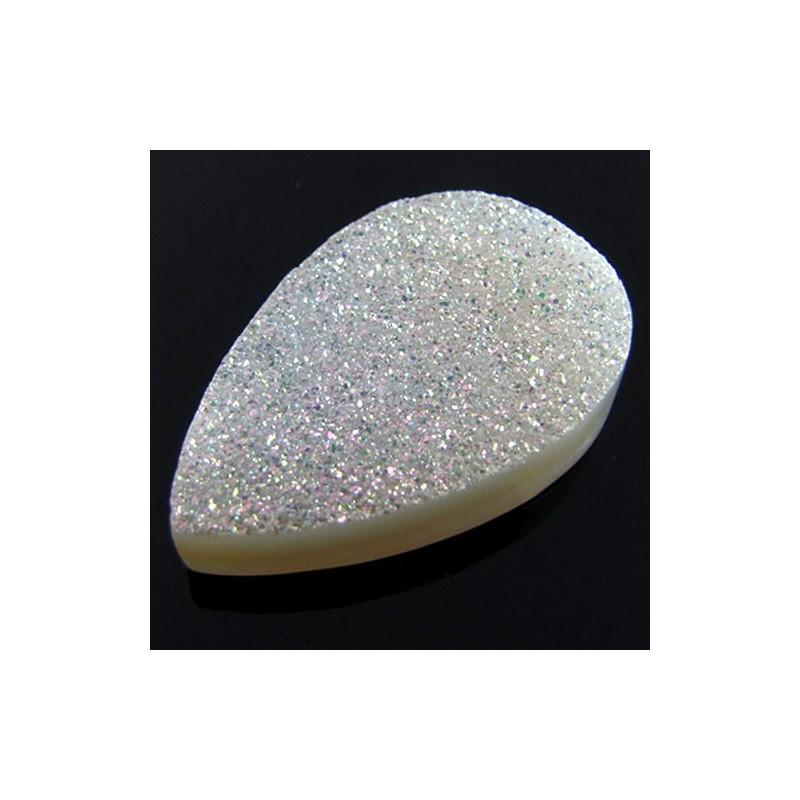 50 Ct. Si Opal Color 35x23mm Pear Shape Drusy Quartz