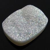 59.2 Ct. Si Opal Color 32x24mm Cushion Shape Drusy Quartz