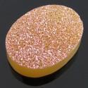 15 Ct. Bronze Beauty Color 20x15mm Oval Shape Drusy Quartz