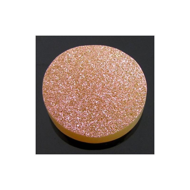 30.5 Ct. Bronze Beauty Color 25mm Round Shape Drusy Quartz