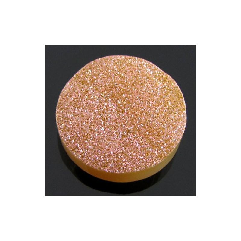 15 Ct. Bronze Beauty Color 18mm Round Shape Drusy Quartz