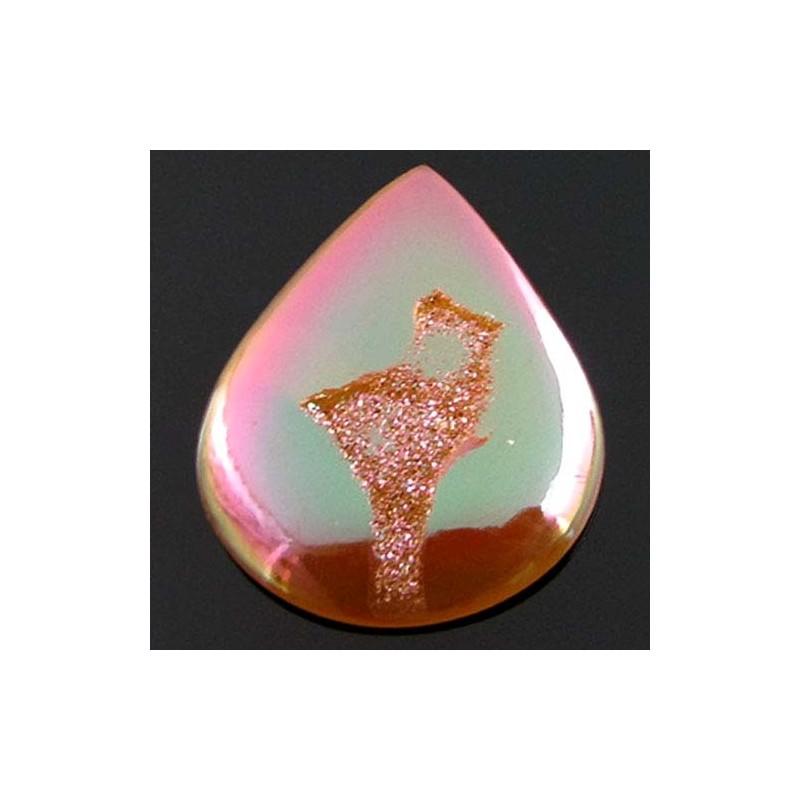 56.7 Ct. Bronze Beauty Color 42x33mm Pear Shape Drusy Quartz