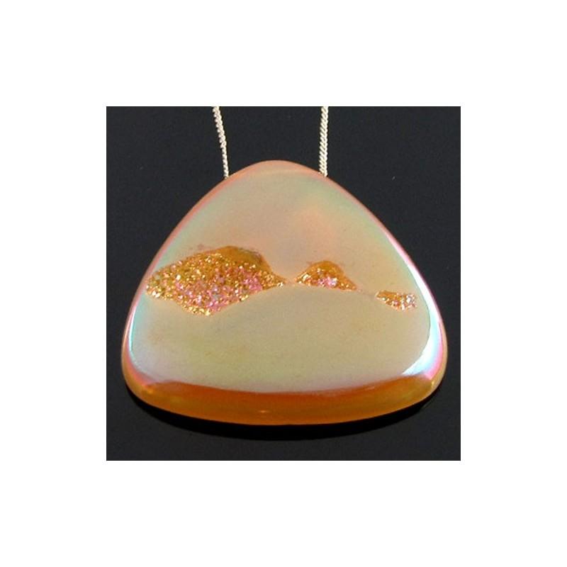 69.8 Ct. Azalea Pink Color 38mm Trillion Shape Drusy Quartz