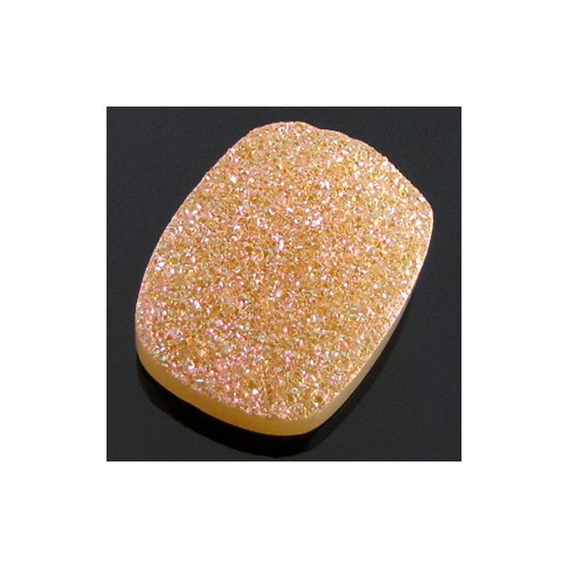 24 Ct. Azalea Pink Color 25x18mm Cushion Shape Drusy Quartz