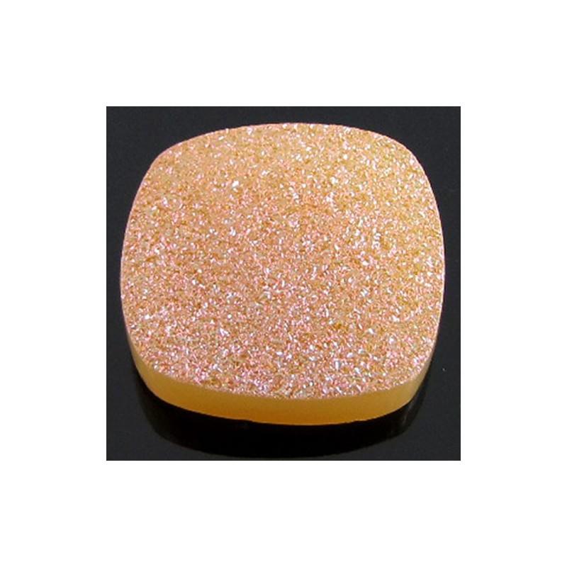 31 Ct. Azalea Pink Color 22mm Cushion Shape Drusy Quartz