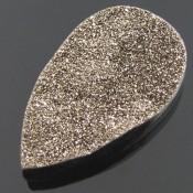 75.2 Ct. Moon Beam Color 45x28mm Pear Shape Drusy Quartz