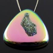 75.85 Ct. Lime Light Color 36mm Trillion Shape Drusy Quartz