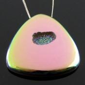 72.8 Ct. Lime Light Color 38mm Trillion Shape Drusy Quartz