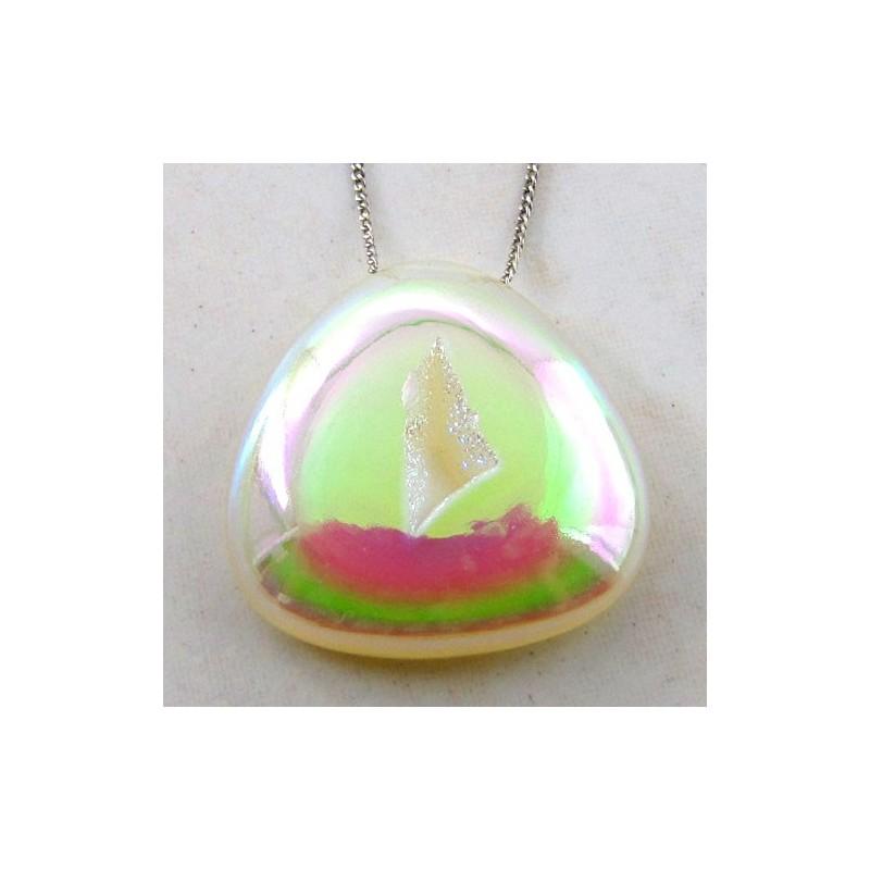 59 Ct. Si Opal Color 30x30mm Trillion Shape Drusy Quartz