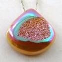 32.65 Ct. Bronze Beauty Color 24.5x24.5mm Heart Shape Drusy Quartz