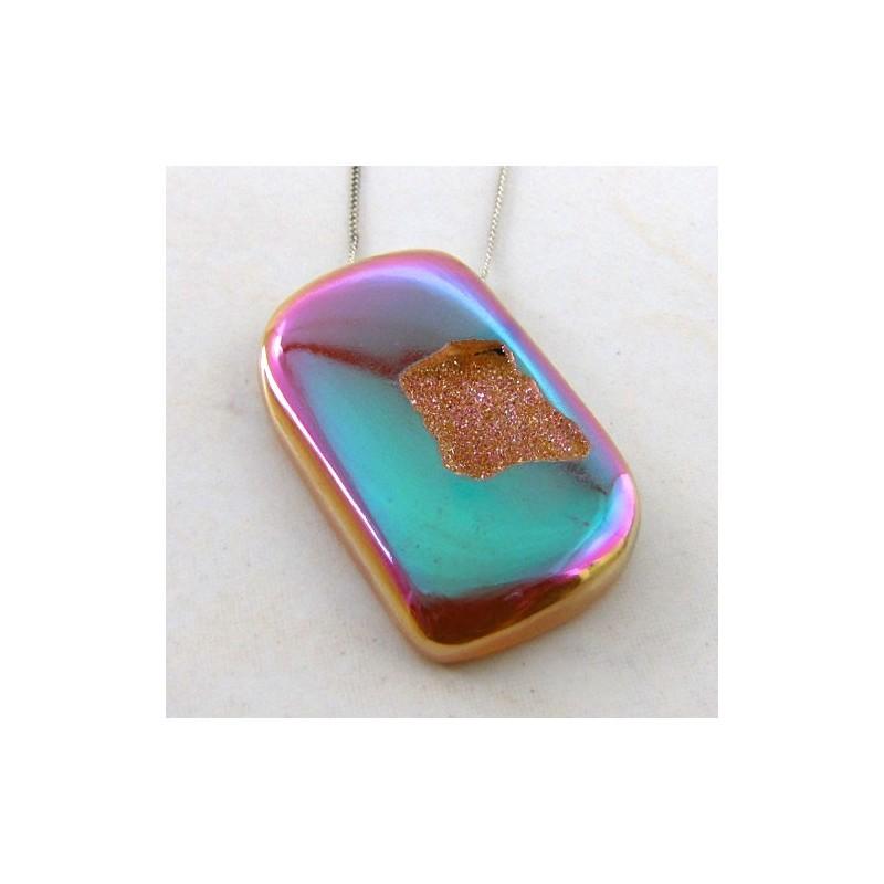 70.3 Ct. Bronze Beauty Color 46.5x26mm Fancy Shape Drusy Quartz