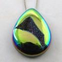 42 Ct. Lime Light Color 34x24.5mm Pear Shape Drusy Quartz