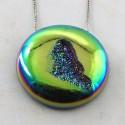 46.65 Ct. Lime Light Color 27.5x27.5mm Round Shape Drusy Quartz