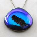 48.4 Ct. Cobalt Blue Color 29x33mm Heart Shape Drusy Quartz
