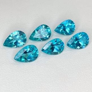 7.77 Cts. Apatite 9x6mm Regular Cut Pear Shape Loose Gemstone - Total 6 Pcs. - SKU:158616