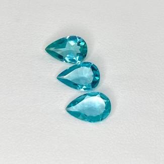 2.80 Cts. Apatite 9x6mm Regular Cut Pear Shape Loose Gemstone - Total 3 Pcs. - SKU:158620
