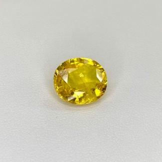 7.21 Cts. Yellow Sapphire 12.60x10.95mm Regular Cut Oval Shape Loose Gemstone - SKU:158802