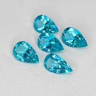 4.23 Cts. Apatite 8x5mm Regular Cut Pear Shape Loose Gemstone - Total 5 Pcs. - SKU:158604