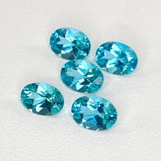 4.25 Cts. Apatite 7x5mm Regular Cut Oval Shape Loose Gemstone - Total 5 Pcs. - SKU:158629
