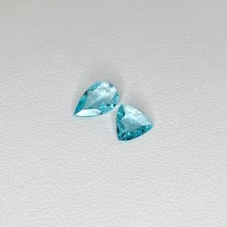 0.90 Cts. Apatite 0.37-0.50Cts. Regular Cut Mixed Shapes Shape Loose Gemstone - Total 2 Pcs. - SKU:158752