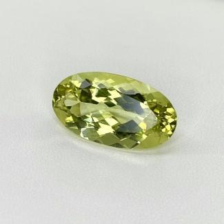 13.65 Cts. Green Beryl 22x12mm Regular Cut Oval Shape Loose Gemstone - SKU:158153