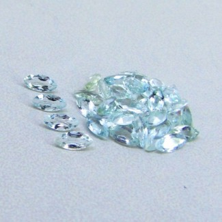 4.34 Cts. Aquamarine 5x2mm Marquise Shape Gemstone Parcel (38 Pcs.)