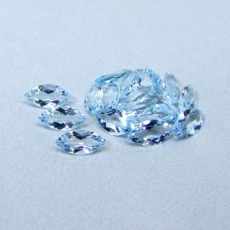 8.05 Cts. Aquamarine 8x4mm Marquise Shape Gemstone Parcel (21 Pcs.)