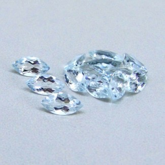 5.95 Cts. Aquamarine 8x4mm Marquise Shape Gemstone Parcel (13 Pcs.)