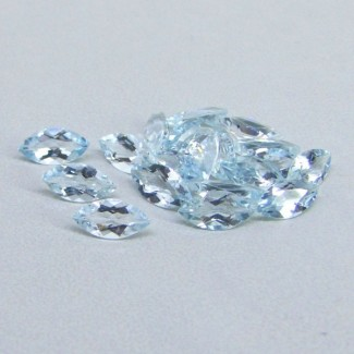 8.46 Cts. Aquamarine 8x4mm Marquise Shape Gemstone Parcel (20 Pcs.)