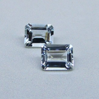 5.83 Cts. Aquamarine 10x8mm Octagon Shape Gemstone Parcel (2 Pcs.)