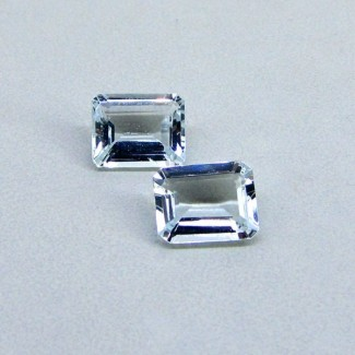 5.3 Cts. Aquamarine 10x8mm Octagon Shape Gemstone Parcel (2 Pcs.)
